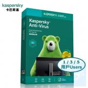 Kaspersky Anti-Virus - 3年 1 / 3 / 5 用戶 ( 繁體及英文盒裝版 ) 香港行貨