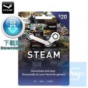 Steam Wallet Card 價值20美元(下載版)