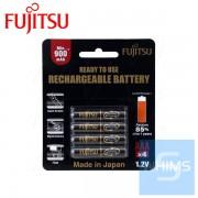富士通充電電池 900mAH AAA x 4Pcs