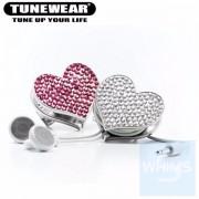 日本品牌 Tunewear Bling Bling 耳機整線器 ( 粉紅石 / 青石色 )