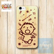 大口仔 Minna No Tabo (TA88W) 木殼 Wood Case for iPhone 系列