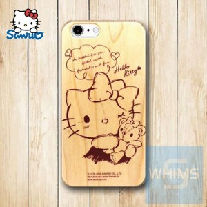 Hello Kitty (KT88W) 木殼 Wood Case for iPhone 系列