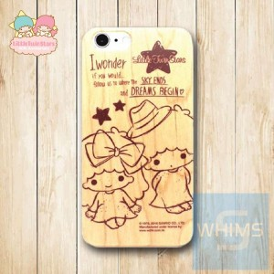 Little Twin Star (TS88W) 木殼 Wood Case for iPhone 系列