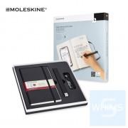MOLESKINE - Moleksine Smart Writing Set Ellipse 智能書寫套裝 及兩本(一空白 一橫間 L型) 替換本