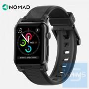 Nomad STRAP - 42MM-黑色矽膠錶帶