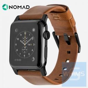 Nomad - 美國 Horween 真皮時尚棕色42MM 錶帶