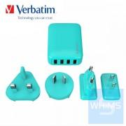 Verbatim - 4 Ports 旅行充電器