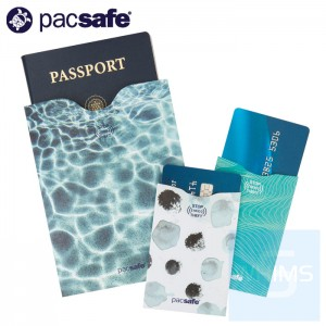 Pacsafe - RFIDsleeve RFID防無線射頻護照和信用卡套裝
