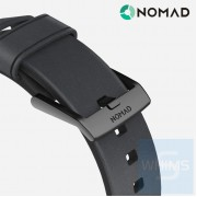 Nomad - 美國 Horween 真皮時尚棕色42MM 黑色錶帶