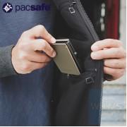 Pacsafe - RFIDsafe 防盜輕薄三折金屬銀包 (黑色)