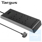 Targus - SmartSurge 6位 防雷拖板連2個智能USB充電插口 ( 黑色 )
