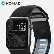 Nomad - Sport Strap - 黑色矽膠42MM錶帶
