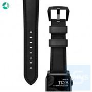 Nomad - 美國 Horween 真皮手造仿古黑色錶帶 42MM