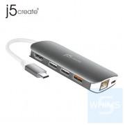 j5create - JCD383 - 9in1 USB-C 轉接器 – HDMI/Ethernet/USB Hub/SD & MicroSD/PD 3.0