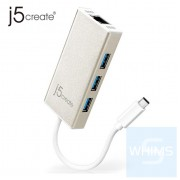 j5create - JCH471 – USB-C 轉 Gigabit Ethernet & USB Hub