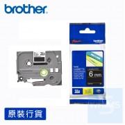 Brother - 6mm 已過膠標籤帶 (覆膜/護貝)系列