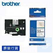 Brother - 3.5mm 白底黑字標籤帶
