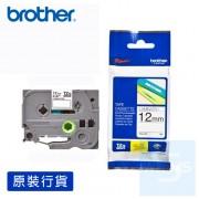 Brother - 12mm 已過膠標籤帶 (覆膜/護貝)系列