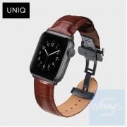UNIQ - 卡羅真皮 42/44mm 黑/棕色錶帶