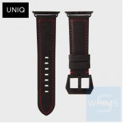 UNIQ - Kronoz 真皮 42mm 黑/棕/綠色錶帶