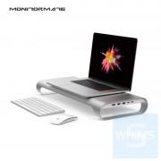 "Monitormate - ProBASE HD 鋁製 USB Type-C 多功能螢幕架 For 2016/2017 MacBook Pro 13"" And 15"" (支援 4K HDMI 輸出)(北歐銀/太空灰)"