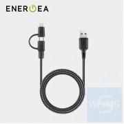 Energea - NyloTough 2合1快速充電線 Lightning + Micro-USB 1.5米