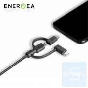 Energea - NyloTough 3IN1 18CM 快速充電線 Micro USB+Type-C