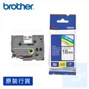 Brother - 18mm 已過膠標籤帶 (覆膜/護貝)系列