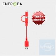 Energea - NyloTough快速充電線2合1 Micro + USB-C 18厘米