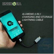 Energea  -  AluMemo Lightning2合1充電和存儲MFI數據線(太空灰)17CM