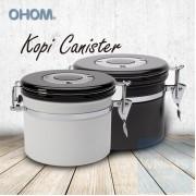 OHOM KOPI - 陶瓷塗層保存罐 黑色/白色