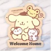 Sanrio - Pom Pom Purin 布甸狗 自訂文字木製門牌(PN81s)