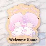 Sanrio Little Twin Stars - 自訂文字木製門牌(TS81s)