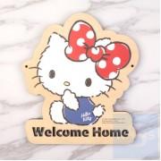 Sanrio Hello Kitty - 自訂文字木製門牌(KT81s)