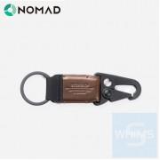 Nomad - 皮革鑰匙夾(棕色)