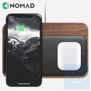 Nomad - 高質感底木座無線充電器 Walnut