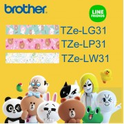 Brother - 12mm Line Friends 已過膠標籤帶 (覆膜/護貝)系列