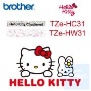 Brother - 12mm Hello Kitty 已過膠標籤帶 (覆膜/護貝)系列
