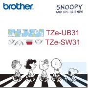 Brother - 12mm Snoopy 已過膠標籤帶 (覆膜/護貝)系列