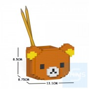 Jekca - 輕鬆小熊筆筒 01S