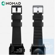 Nomad - Active Strap 防水皮革黑色錶帶 44/42MM