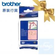 Brother - TZe-RE34 (12mm) 粉紅底金字絲帶