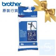 Brother - TZe-RN34 (12mm) 深藍底金字絲帶