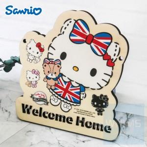 Sanrio - Hello Kitty 自訂文字木製門牌(KT84s)