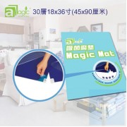 aMagic - Magic Mat 吸菌魔墊可撕式30層18x36寸(45x90厘米) 藍色
