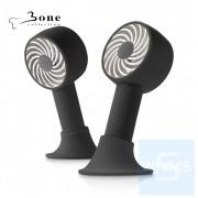 Bone - 簡約黑 頸掛桌立兩用風扇 Lanyard Fan