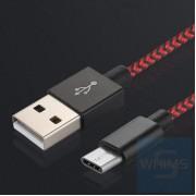 USB 轉 Tpye-C 1米 (2.4A) 尼龍數據線