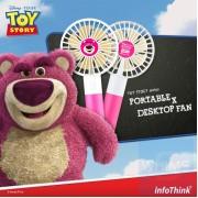InfoThink x Disney - 反斗奇兵系列 行動x桌上型兩用風扇 - 熊抱哥