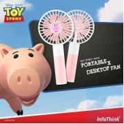 InfoThink x Disney - 反斗奇兵系列 行動x桌上型兩用風扇 - 火腿豬