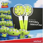 InfoThink x Disney - 反斗奇兵系列 行動x桌上型兩用風扇 - 三眼怪
